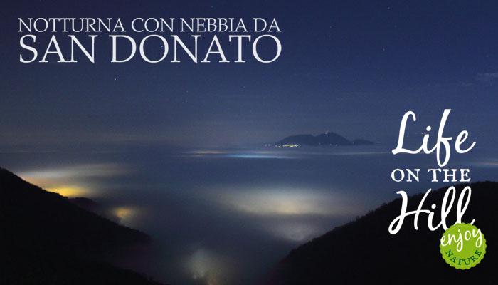 Notturna con nebbia da San Donato - Colli Berici - FB - immagine