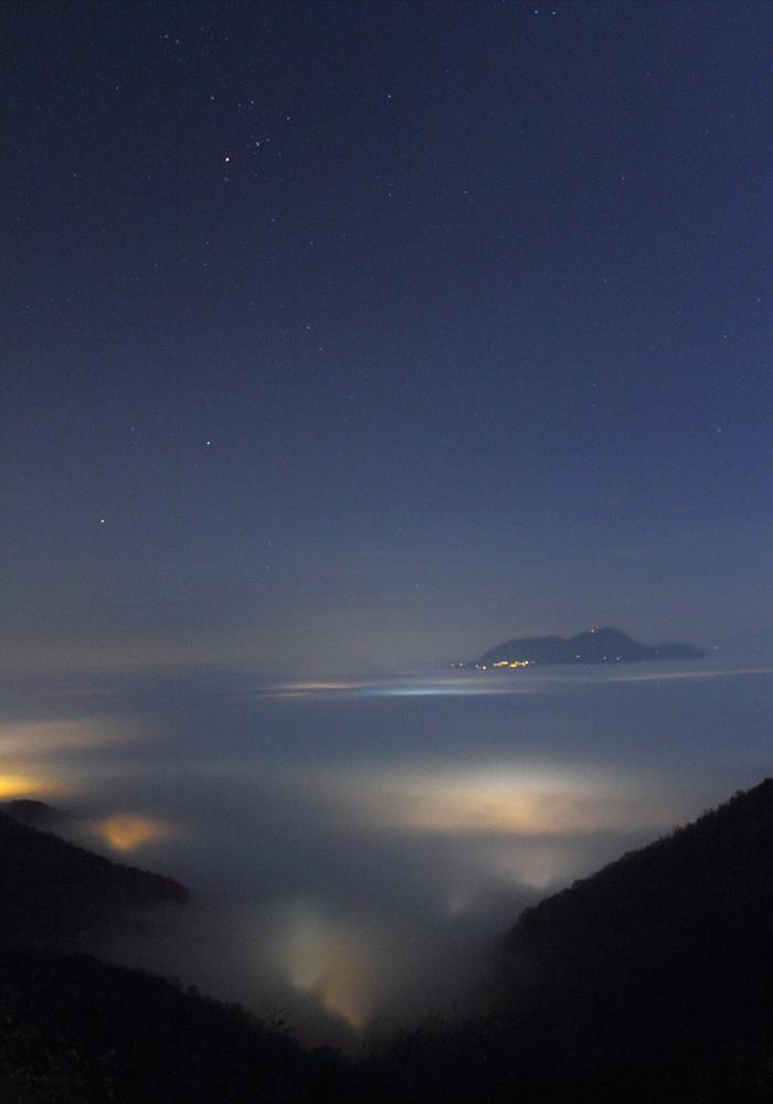 Notturna con nebbia da San Donato - intera - Colli Berici