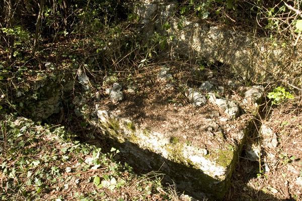 Postazione di mitragliatrice sul Monte Tondo