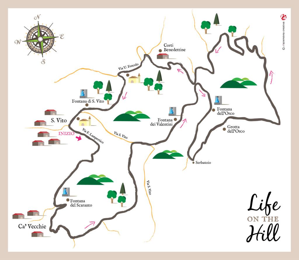Mappa sentiero n 31 di San Vito e delle Fontane - Colli Berici