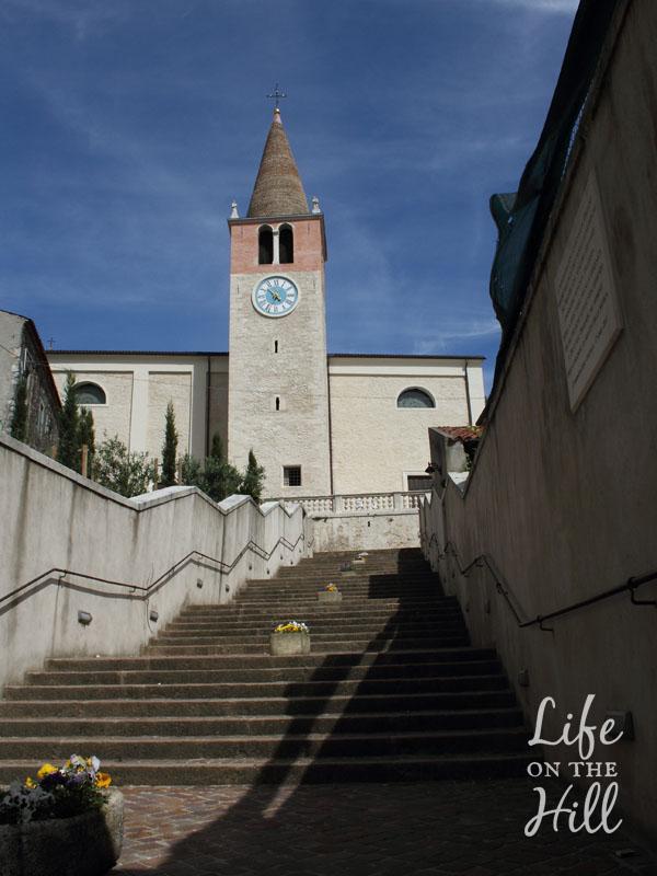 Chiesa S.Maria Orgiano - Colli Berici - veduta dalla scalinata