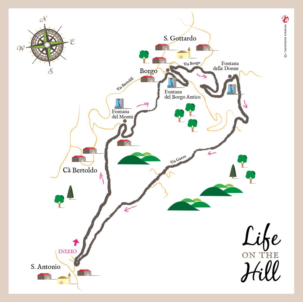 Sentiero delle Fontane di Zovencedo - mappa