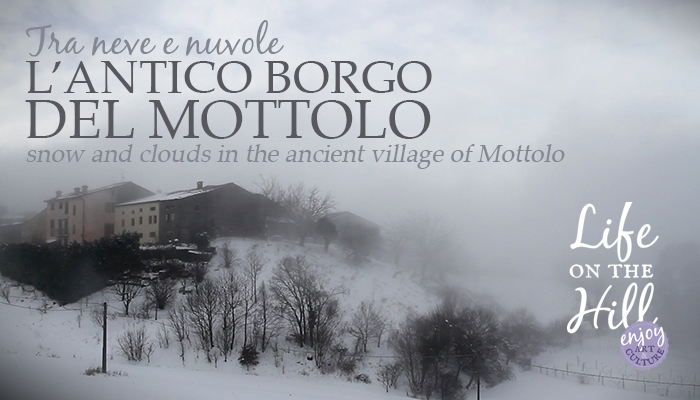 L'antico borgo del Mottolo, nel cuore dei Colli Berici tra neve e nuvole