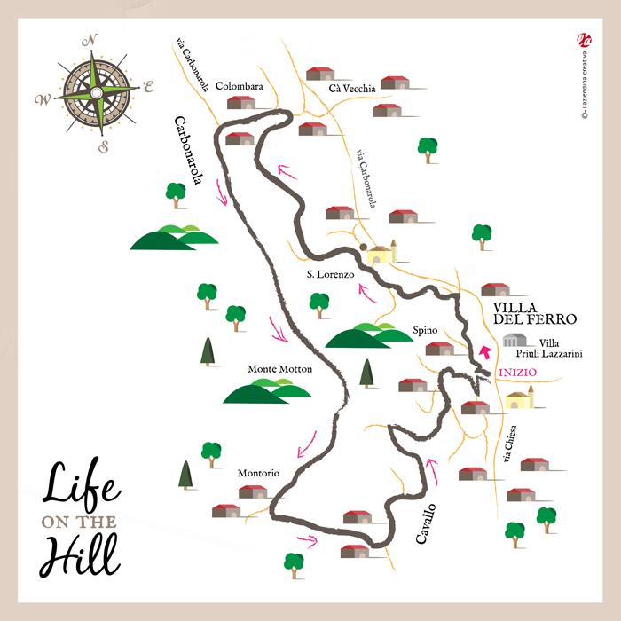 Mappa sentiero 51 di Villa del Ferro