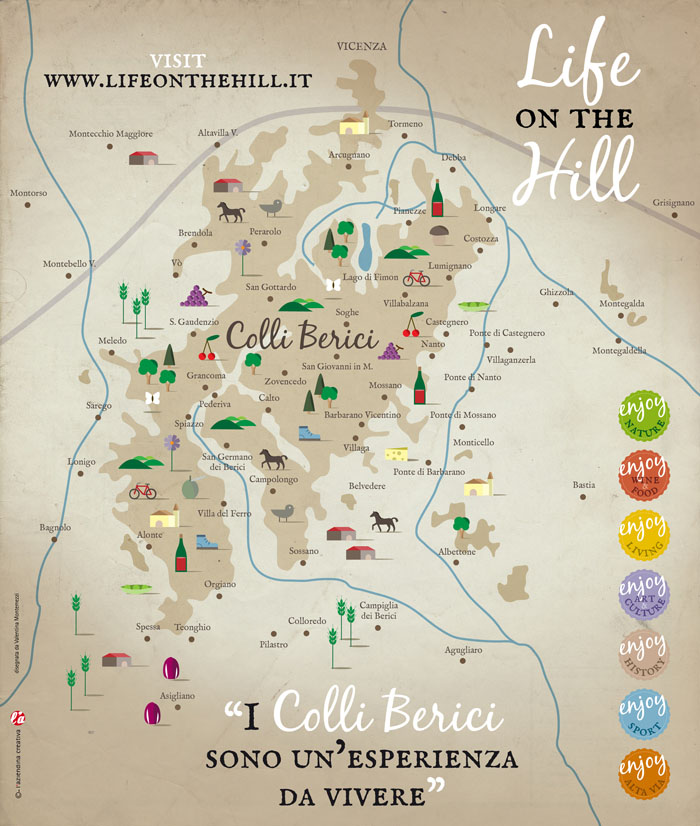 Colli Berici - Mappa Life on the Hill