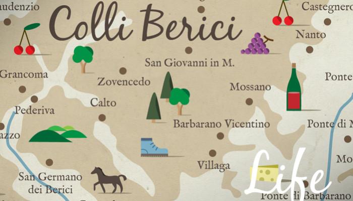 Monti Berici Cartina Italia.La Mappa Dei Colli Berici Di Life On The Hill