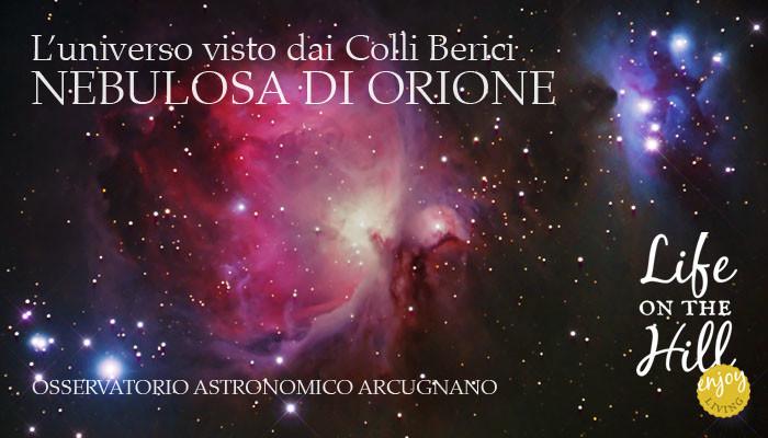 La nebulosa di Orione vista dai Colli Berici