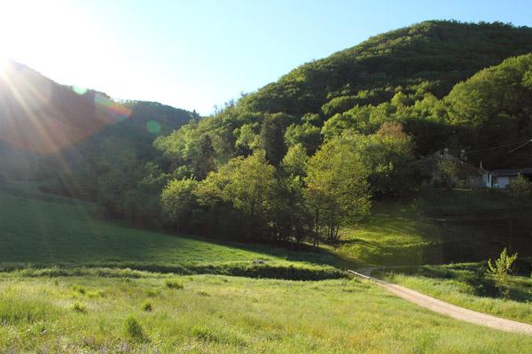 Alba sull'alta Valle del Gazzo