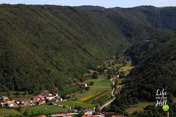 Valle dei molini vista dall'alto