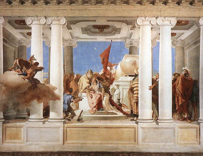 Sacrificio d'Ifigenia, Giambattista Tiepolo, 1757 - Life on the Hill